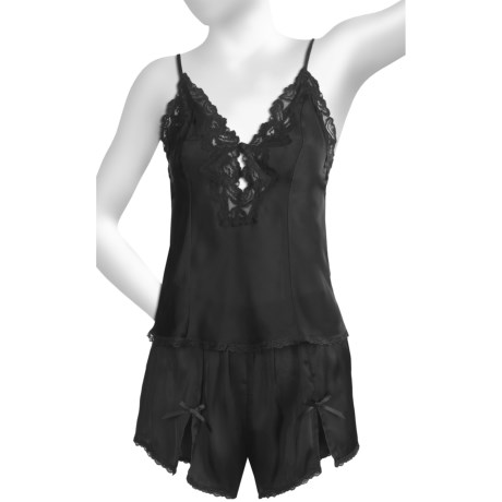 Linda Hartman Ava Cami & Tap Set (For Women) in Black