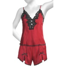 Linda Hartman Ava Cami & Tap Set (For Women) in Red - Closeouts