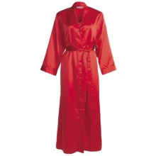 Linda Hartman Classic Kimono - Long Sleeve (For Women) in Red - Closeouts