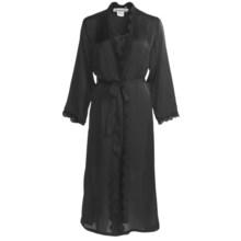 Linda Hartman Classic Tea Length Kimono - Long Sleeve (For Women) in Black - Closeouts