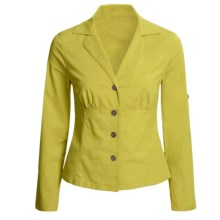 Linea Blu Fitted Cotton Jacket - Long Sleeve (For Women) in Lime - Closeouts