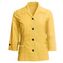 Linea Blu Princess Seam Jacket - Cotton, 3/4 Sleeve (For Women) in Yellow - Closeouts