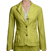 Linea Blu Stretch Cotton Jacket ( For Women) in Lime - Closeouts