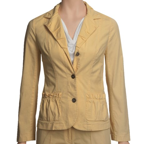Linea Blu Stretch Cotton Jacket ( For Women) in Yellow