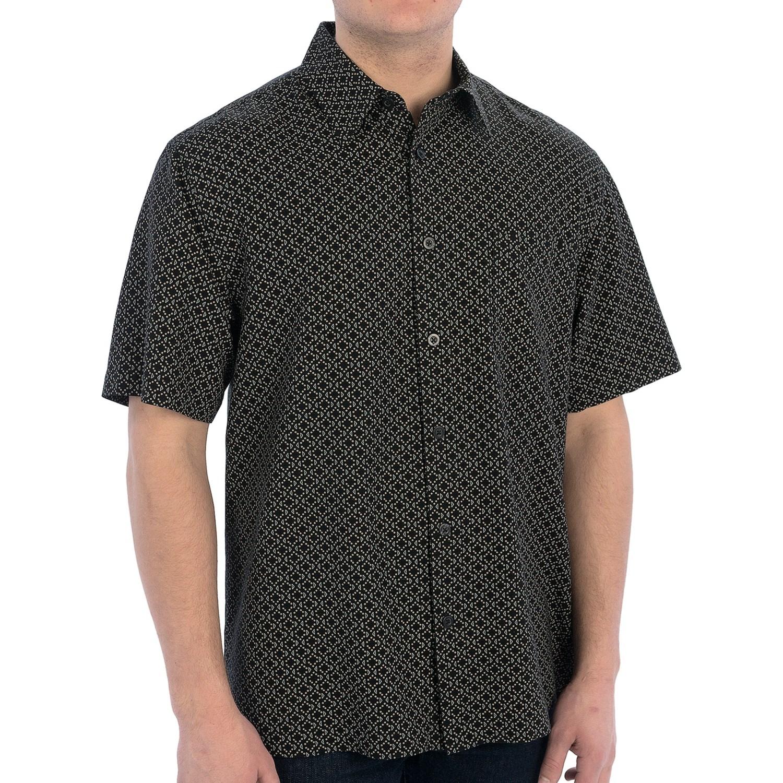 Linea rosso silk blend shirt dot diamond print short for Diamond and silk t shirts