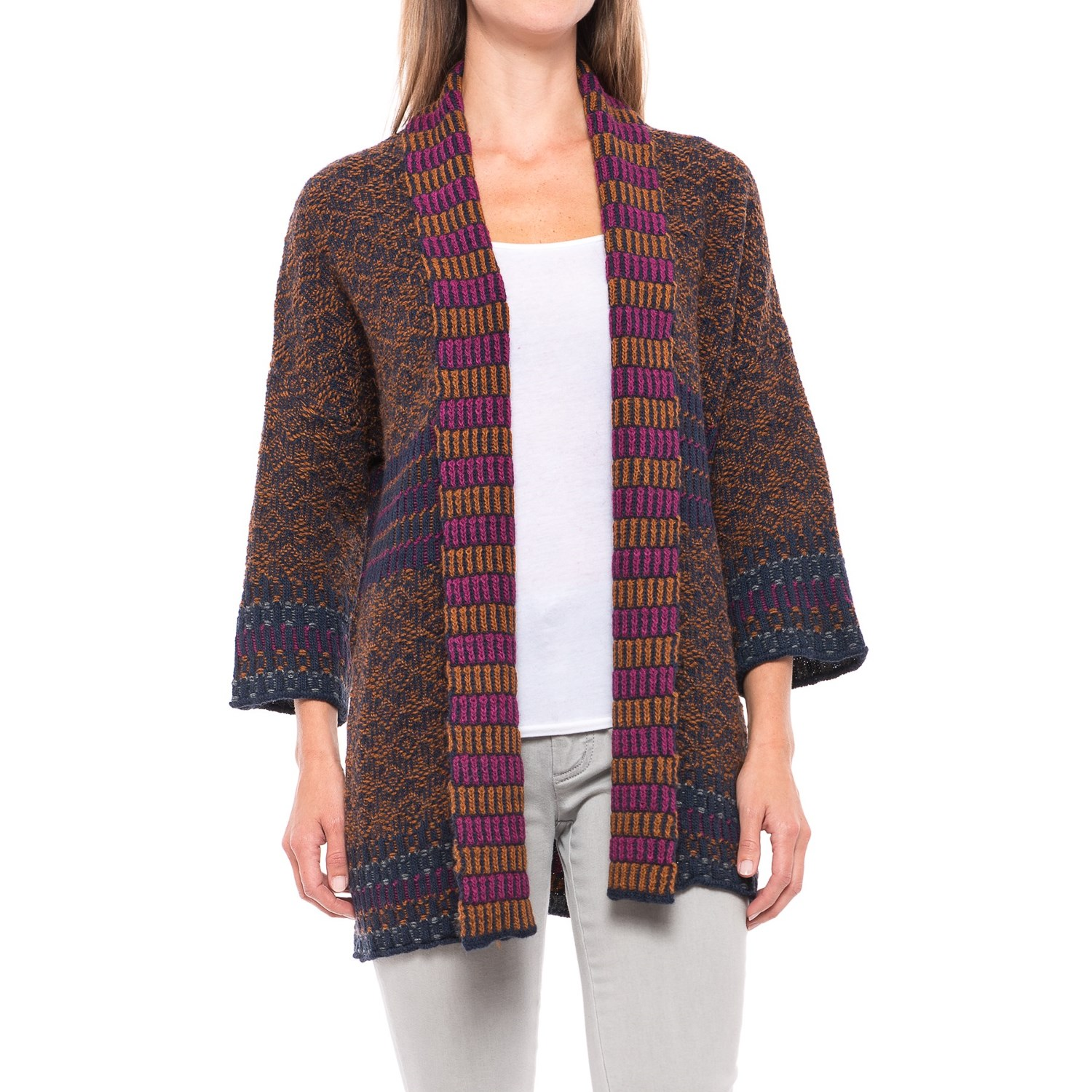 Lineamaglia Kimono Sleeve Cardigan Sweater (For Women) - Save 51%