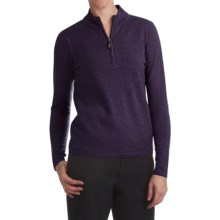 Lined Merino Wool Sweater - Zip Neck (For Women) in Shi - 2nds