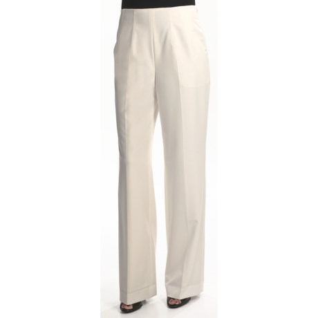 Lined Poly-Blend Pants (For Women) in Ivory