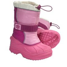 Lined Strap Snow Boots (For Kid and Youth Girls) in Pink - Closeouts