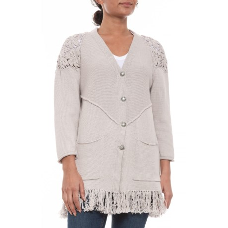 Image of Linen-Colored Recognition Cardigan Sweater (For Women)