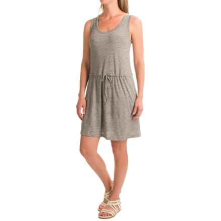 Linen-Cotton V-Neck Dress - Sleeveless (For Women) in Grey Heather - 2nds