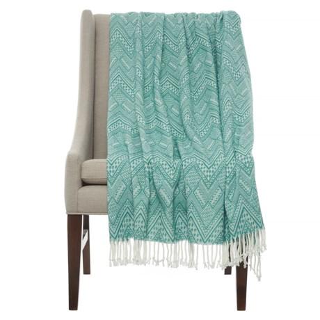 "LINENS-N-THINGS Serena Throw Blanket - 50x60"" in Light Green"