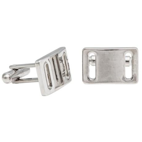 Link Up Buckle Cufflinks (For Men) in Silver