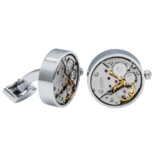 Link Up Circle Gears Cufflinks (For Men) in Gold/Silver - Closeouts