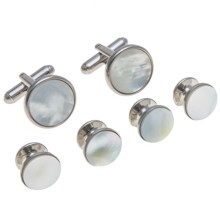 Link Up Cufflink Set (For Men) in Mother Of Pearl - Closeouts