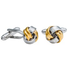 Link Up Knot Cufflinks - Two Tone (For Men) in Gold/Silver Classic - Closeouts