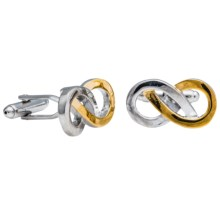 Link Up Knot Cufflinks - Two Tone (For Men) in Gold/Silver Infinifty - Closeouts