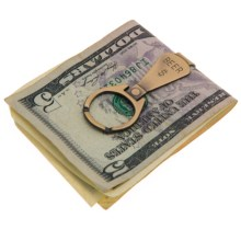 Link Up Metal Money Clip (For Men) in Beer/Brass - Closeouts