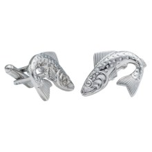 Link Up Novelty Cufflinks (For Men) in Fish - Closeouts