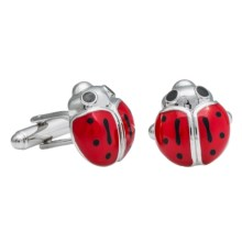 Link Up Novelty Cufflinks (For Men) in Lady Bug - Closeouts