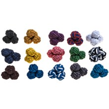 Link Up Silk Knot Cufflinks - Pack of 15 in Asst - Closeouts