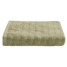 Lintex Amalfi Jacquard Washcloth - Zero Twist Cotton in Leek - Closeouts