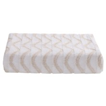 Lintex Amalfi Jacquard Washcloth - Zero Twist Cotton in White - Closeouts