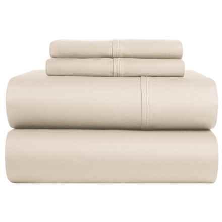 Lintex Cotton Sateen Sheet Set - Full, 400 TC in Beige - Closeouts