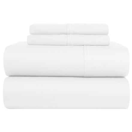 Lintex Cotton Sateen Sheet Set - King, 400 TC in White - Closeouts