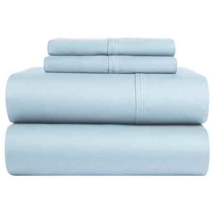 Lintex Cotton Sateen Sheet Set - Queen, 400 TC in Blue - Closeouts