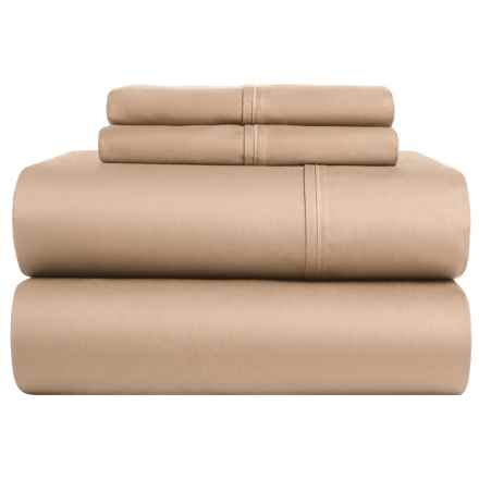 Lintex Cotton Sateen Sheet Set - Queen, 400 TC in Taupe - Closeouts