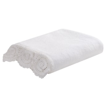 Lintex Crochet Bath Towel - Cotton in White