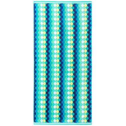 "Lintex Diamonds Cotton Velour Beach Towel - 31x68"" in Cool - Closeouts"