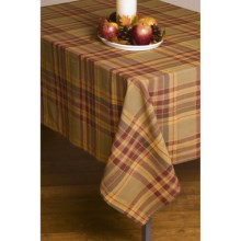 "Lintex Fall Plaid Tablecloth - 52x70"" in Harvest Check - Closeouts"