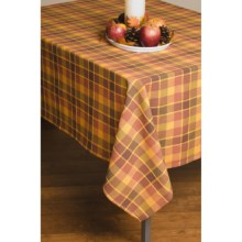 "Lintex Fall Plaid Tablecloth - 60x120"" in Harvest Sunset - Closeouts"