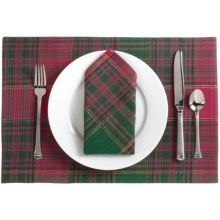 Lintex Holiday Plaid Cloth Napkins - Set of 4 in Maxwell - Closeouts