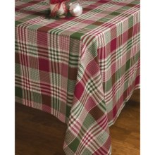 "Lintex Holiday Plaid Table Cloth - 52x70"" in Patchwork - Closeouts"