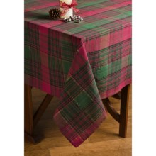 "Lintex Holiday Plaid Table Cloth - 60x102"" in Maxwell - Closeouts"