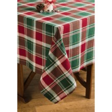 "Lintex Holiday Plaid Table Cloth - 60x84"" in Tradition - Closeouts"