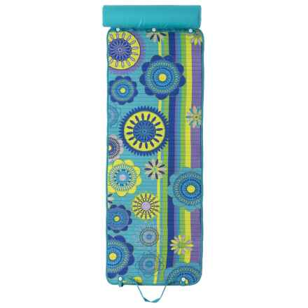 "Lintex Kaleidoscope Rolled Beach Mat with Pillow - 24x64"" in Kaleidoscope Cool - Closeouts"