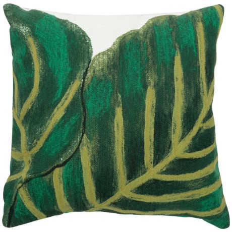 """Liora Manné Indoor-Outdoor Banana Leaf Throw Pillow - 20x20"""" in Emerald"""