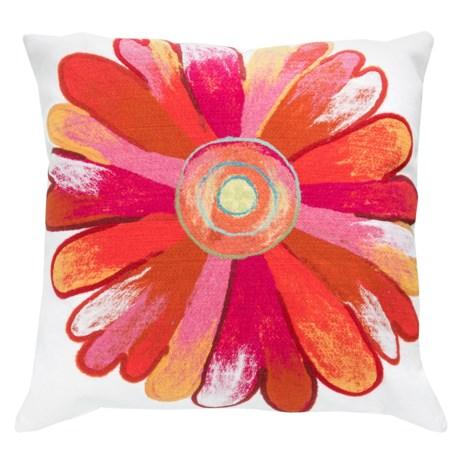 "Liora Manné Indoor/Outdoor Daisy Throw Pillow - 20x20"" in Daisy Orange"
