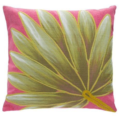 "Liora Manné Indoor/Outdoor Palm Throw Pillow - 20x20"" in Hot Pink"