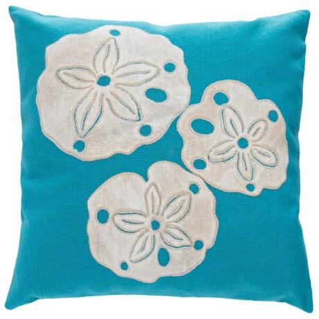 "Liora Manné Indoor/Outdoor Sand Dollar Throw Pillow - 20x20"" in Aqua"