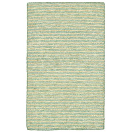 Liora Manné Mojave Pencil Stripe Collection Accent Rug - 2x3', Indoor/Outdoor in Aqua