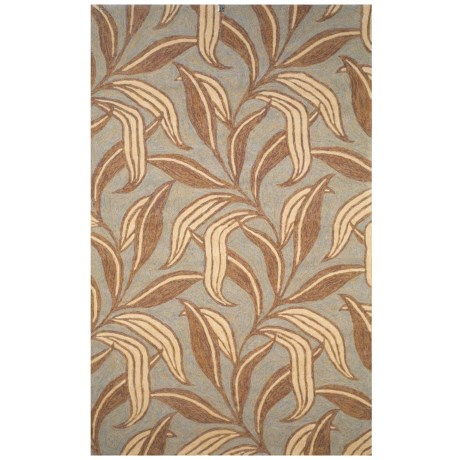"""Liora Manné Ravella Leaf Collection Accent Rug - 3'6""""x5'6"""", Indoor/Outdoor in Driftwood"""