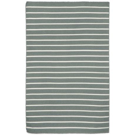 """Liora Manné Sorrento Pinstripe Collection Accent Rug - 3'6""""x5'6"""", Indoor/Outdoor in Grey"""