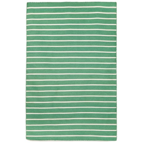 "Liora Manné Sorrento Pinstripe Collection Area Rug - 5'x7'6"", Indoor/Outdoor in Aqua"