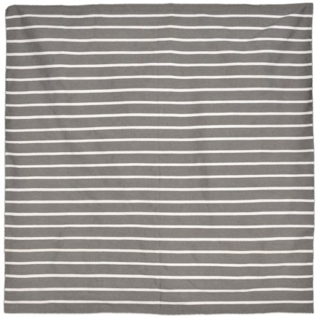 Liora Manné Sorrento Pinstripe Collection Area Rug - 8x8', Indoor/Outdoor in Grey