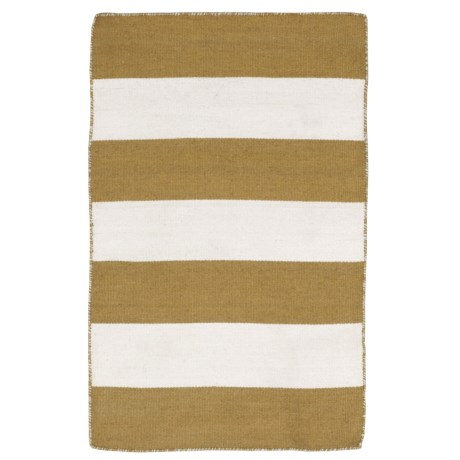 Liora Manné Sorrento Rugby Stripe Collection Accent Rug - 2x3', Indoor/Outdoor in Khaki